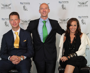 J.T. Foxx (Top Wealth Coach & Serial Entrepreneur), Hartmut Eggert (Personal Coach, Business Consultant & Entrepreneur), Donna Karan (Fashion Designer and creator of the Donna Karan New York and DKNY clothing labels)
